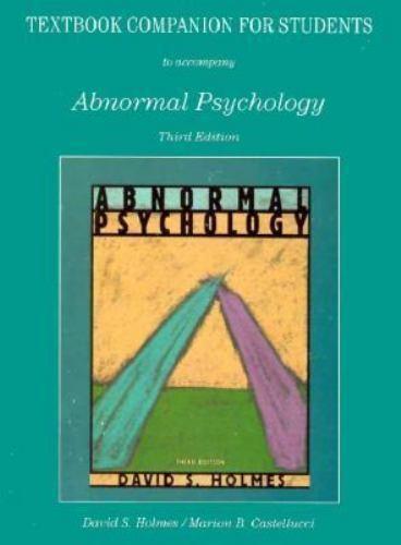 Holmes, David S. : Abnormal Psychology