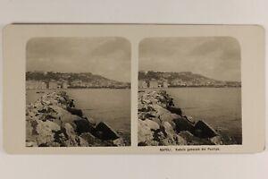 Italia Napoli Panorama Depuis Posilipo c1905 Foto Stereo Vintage Analogica