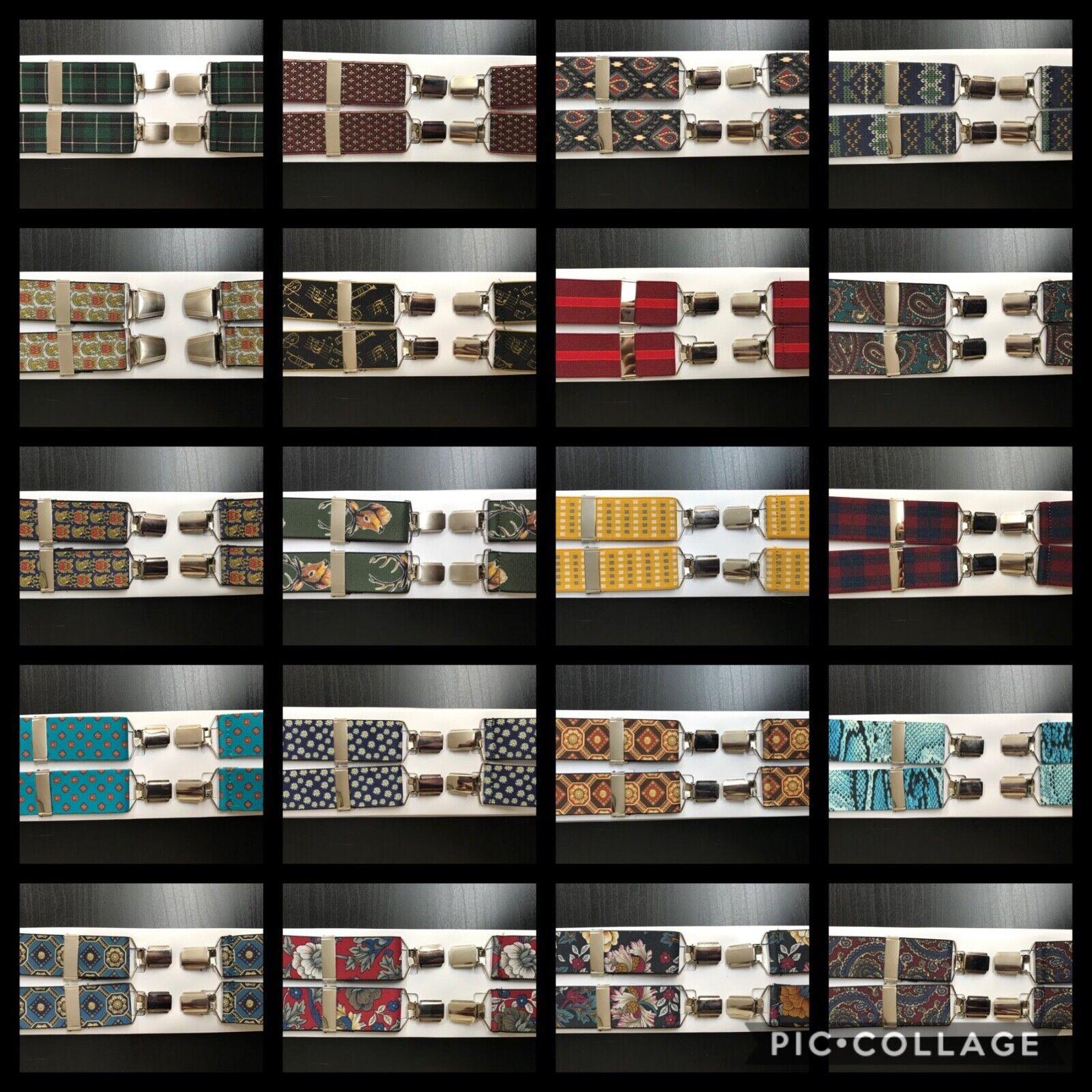 35 Designs - Mens Elasticated Braces High Quality Fully Adjustable Suspenders