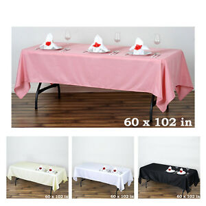 5pcs-60x102-034-Polyester-Rectangle-Tablecloths-For-Wedding-Party-Banquet-Events