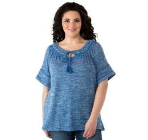 Cherokee-Plus-Size-Peasant-Top-with-Trim-Detail-Size-3X