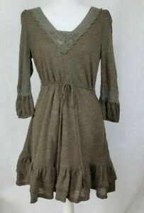 Anthropologie-Brown-Sweater-Dress-Medium