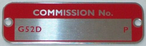CLASSIC MG MGC GT COMMISSION PLATE    G52D     67-69    FREE UK P/&P
