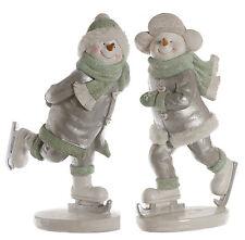 Patinaje artístico sobre hielo nieve Boy & Girl estatuilla de Navidad Conjunto de regalo nuevo 22487
