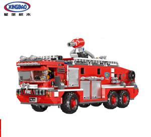 Bausteine-Xingbao-Spielzeug-Wassertank-Feuerwehrauto-Technologie-Montage-720PCS