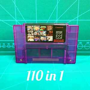 Super-110-in-1-Game-Cartridge-For-Super-Nintendo-SNES-16-Bit-Multicart-NTSC-SNES