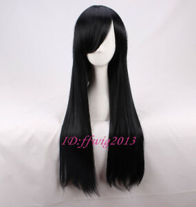 The Incredibles Violet Parr 75cm Long Black straight cosplay wig +a wig cap