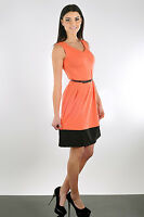 Lovely Women's Summer Flippy Dress Sleeveless Scoop Neck Size 8-14 FA110