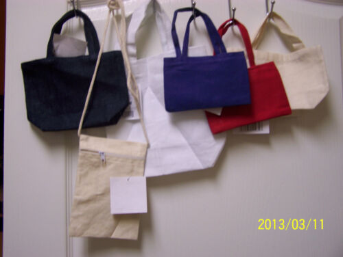 """ASSORTED SIZES AND COLORS OF CANVAS PURSES TOTES PERSONALIZED FOR THE /""""PRINCESS/"""""""
