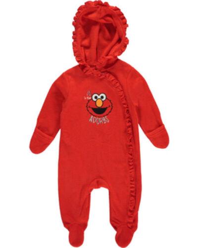 Elmo Sesame Street Baby Girls Infant Pram Light Coat Jacket Ruffle 6-9 M New NWT