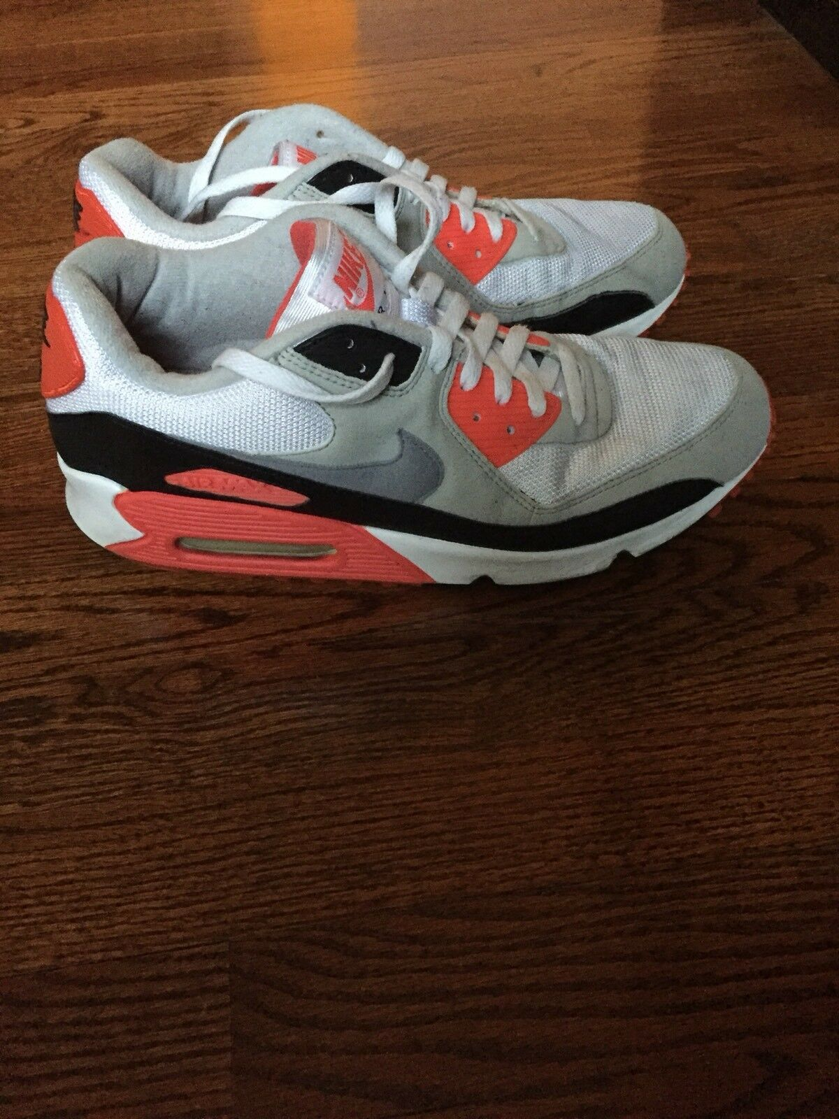 Nike air max 90 Classic HOA White Cement Grey Infrared Black 313096 101 Size 11
