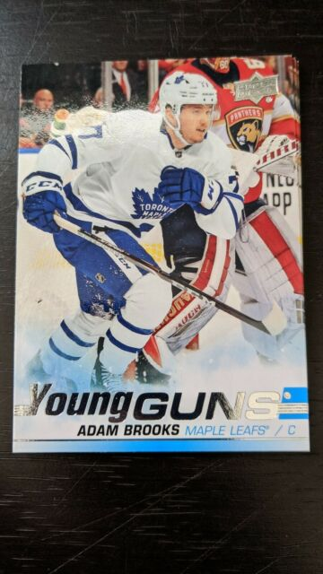 2019-20 UD Update Adam Brooks Young Guns RC - Toronto Maple Leafs