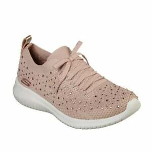 Damen Skechers Rose Ultra Flex bummeln OUT Sneaker Schuhe bqNfU