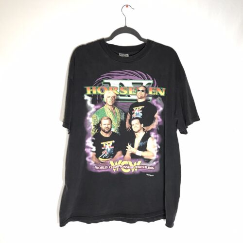 Vintage 90's WCW 4 Horsemen XL T-shirt RIC FLAIR A