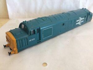 Hornby Class 37 Rail Blue Large Logo Ringfield Version Body R758 37071 DéLicieux Dans Le GoûT