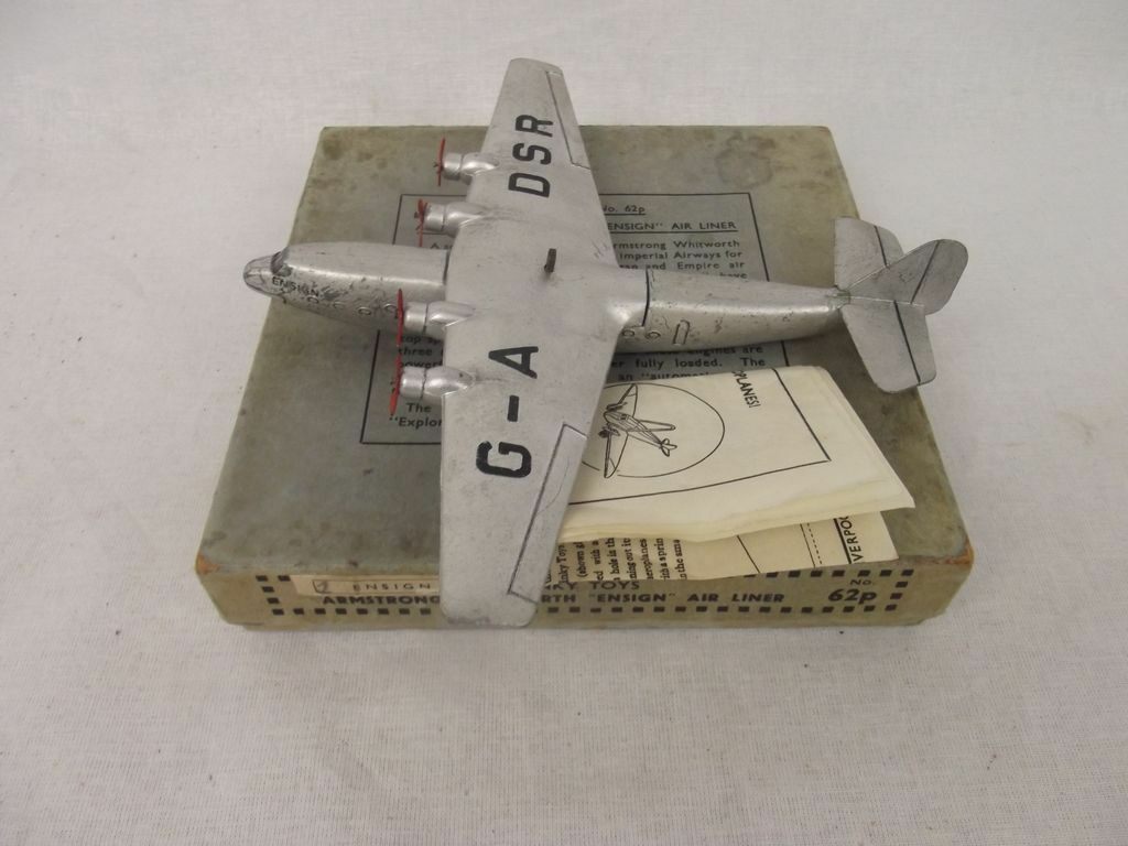 Boxed Pre-War Dinky No. 62p Armstrong Whitworth  Ensign  Airliner