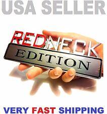 💰 REDNECK EDITION CHEVROLET car TRUCK EMBLEM logo DECAL SIGN CHROME RED NECK tr