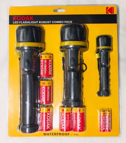Kodak DEL Lampe Combo Pack-Imperméable-Neuf En Paquet