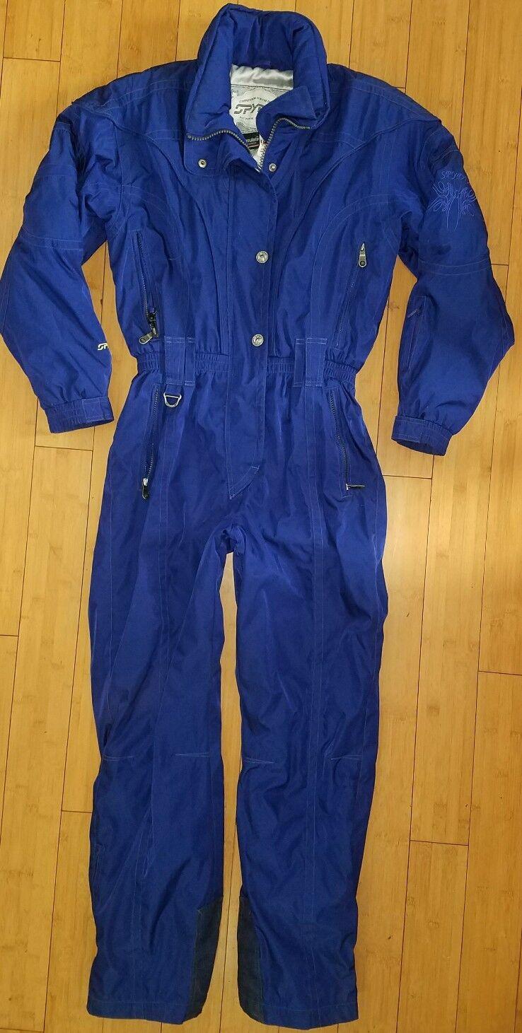 SPYDER XT damen Blau Thinsulate One Piece Ski SnowSuit 10 12