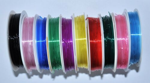 0.8 and 1.0 mm option for colour rolls of crystal elastic cord//thread//wire 0.6