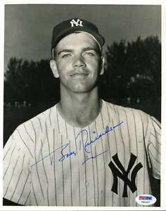 Bobby-Richardson-Psa-dna-Coa-Hand-Signed-8x10-Photo-Authentic-Autograph