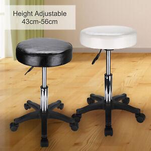Salon Stool Chair Spa Massage Manicure Beauty PU Leather Hydraulic Swivel White