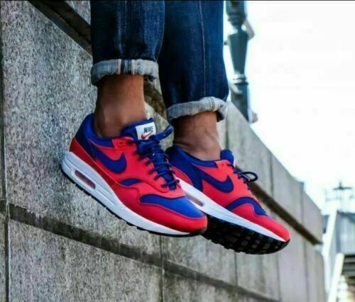 NIKE AIR MAX 1 SE ''SATIN UPPER'' AO1021 600 RED blueeE RUNNING SHOES MEN'S SIZE 7