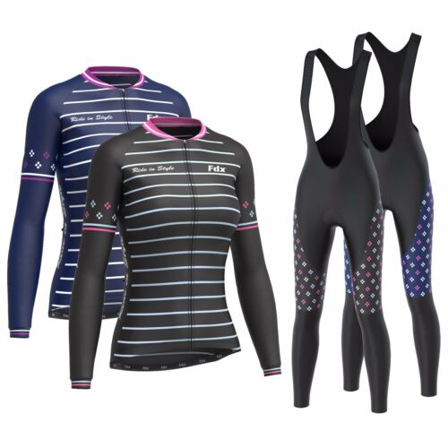 FDX Women's Limited Edition Cycling Bib Tights + Thermal Cycling Jersey Combo