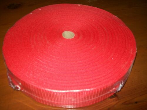 "1 50mtr ROLL 38mm 112"" POLYPROPOLENE WEBBING RED"