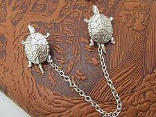Turtle Collar Pins Terrapin Tie Tacks Sweater Guards