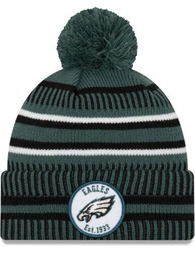 New Era Philadelphia Eagles Onfield Home Bobble Hat in Offical Team Colour