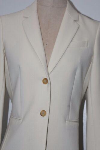 $1590 New THE ROW Stretch Crepe LEFMAN Winter White 2 Button Jacket Blazer 2 6 8