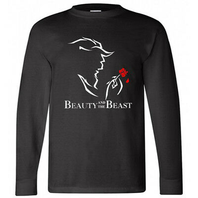 New Beauty and The Beast Broadway Show Musical Men/'s Black T-shirt Size S to 3XL