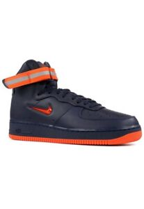 cozy fresh how to buy reliable quality Details about Nike Air Force 1 Mens High Retro Fashion Sneakers Size 10.5  Blue Orange- show original title