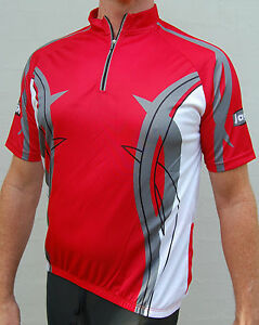 Jaggad-Cycling-bike-Jersey-shirt-Red-Mens-Ladies-womens-Uni-Size-Loose-fit