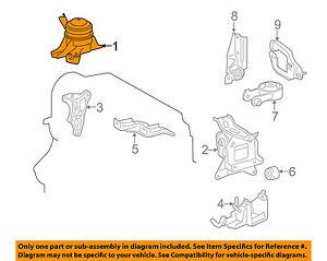 Toyota Oem 07 15 Yaris Motor De Montaje Del Motor De Torsion Puntal 1230521220 Ebay