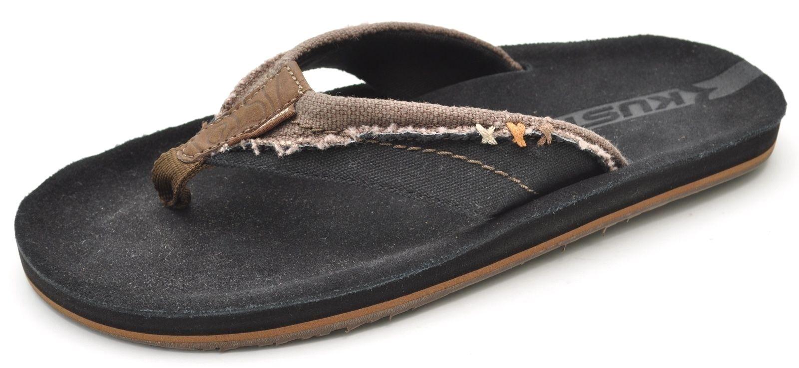 296c957ae2b7 Kustom Black Beach Thongs Flip-Flops Flip-Flops Flip-Flops Sandals Men s 8  - NEW b71f99