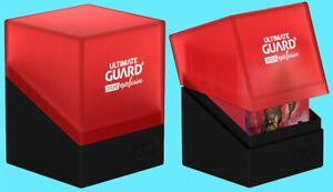 ULTIMATE-GUARD-BOULDER-100-BLACK-RED-2020-EXCLUSIVE-DECK-CASE-Card-Storage-Box