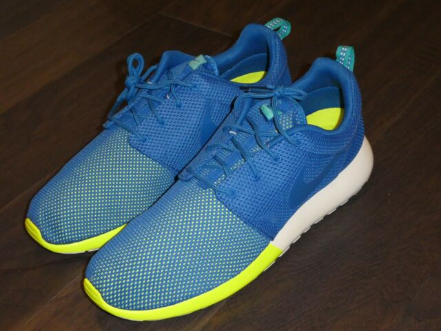 42cd0e608fdd Nike Mens Rosherun Size 12 Military Blue Turbo Green Running Shoe ...