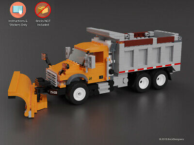 NO BRICKS Instructions /& Stickers to build a custom Lego Delivery Truck