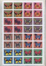 AJMAN 1971, Butterflies, imperf., 4 x set of 8 (MS), MNH**(90)