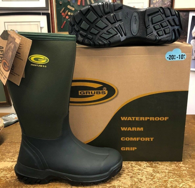 Grub's Frostline 5.0 Wellington Sub Zero Field Boot Moss Green All Day Comfort