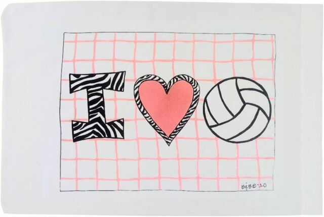 Standard Pillowcase Volleyball I Quot Heart Quot Volleyball Ebay