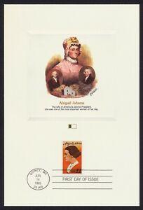 #2146 22c Abigail Adams, Fleetwood Proofcard Cualquier 4=