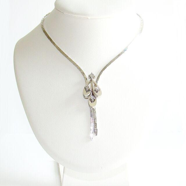 Collier Gold 333er Diamanten Weißgold Halskette Goldkette 8 kt.