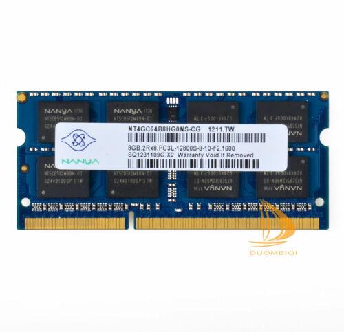 LOT Nanya 8GB 4GB 2GB DDR3//DDR2 12800L 12800S//10600S Laptop Memory RAM Intel KIT