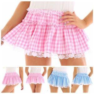 Womens-Lady-Mens-Tennis-Short-Skirt-Lace-Pleated-Skater-Flared-Mini-Skirt-Shorts