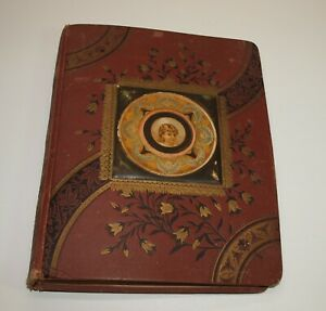 Antique-19th-Century-Scrapbook-POETRY-News-CLIPPINGS-New-Orleans-Baton-Rouge