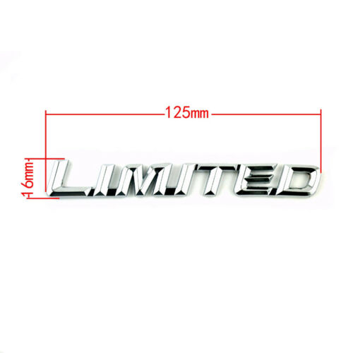 3D Metal LIMITED Emblem Badge Car Fender//Tail//Rear Trunk Limited Sticker 12.5cm