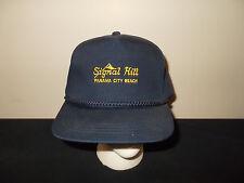 VTG-1980s Signal Hill Panama City Beach Florida golf rope snapback hat sku28